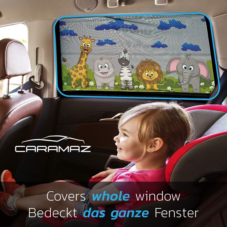 Animaux protection UV//chaleur Pare soleil voiture b/éb/é//enfant 2 pi/èces 51 x 31 cm M/édium//Large adh/ésion sans ventouse pose rapide//facile