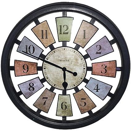 Westclox 36014 Color Panel Round Quartz Wall Clock, 18.5 Inch