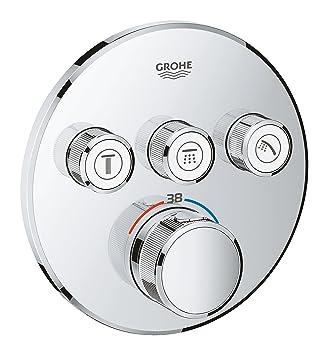 Grohe 29121000 Grohtherm Smartcontrol Termostato con 3 Chorros Regulables, Cromo, Redondo: Amazon.es: Bricolaje y herramientas