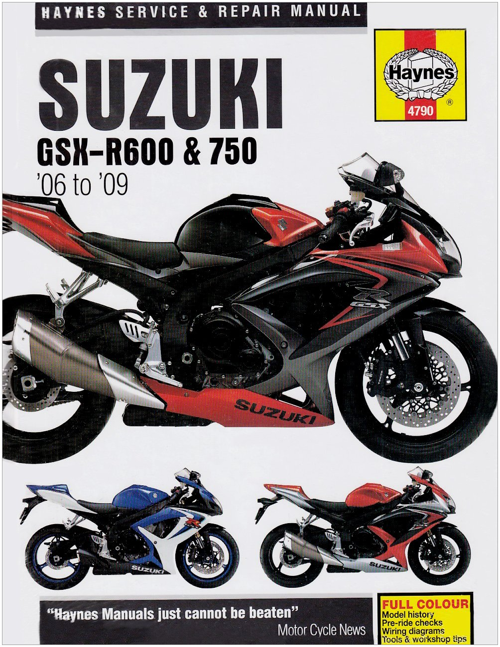 Title Suzuki GSX-R600 and 750 Service and Repair Manual: 2006 to 2009  (Haynes Service and Repair Manuals): Matthew Coombs: 9781844257904:  Amazon.com: Books