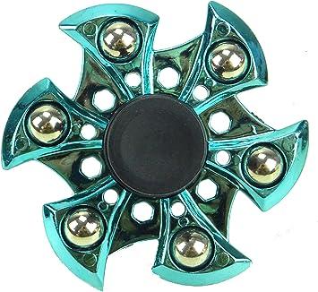 TOYLAND Spinarooz Hand Spinner Novelty Toy - Fidget Spinner - 3 en 1 - Salto, Rebote, Giro (Azul): Amazon.es: Juguetes y juegos