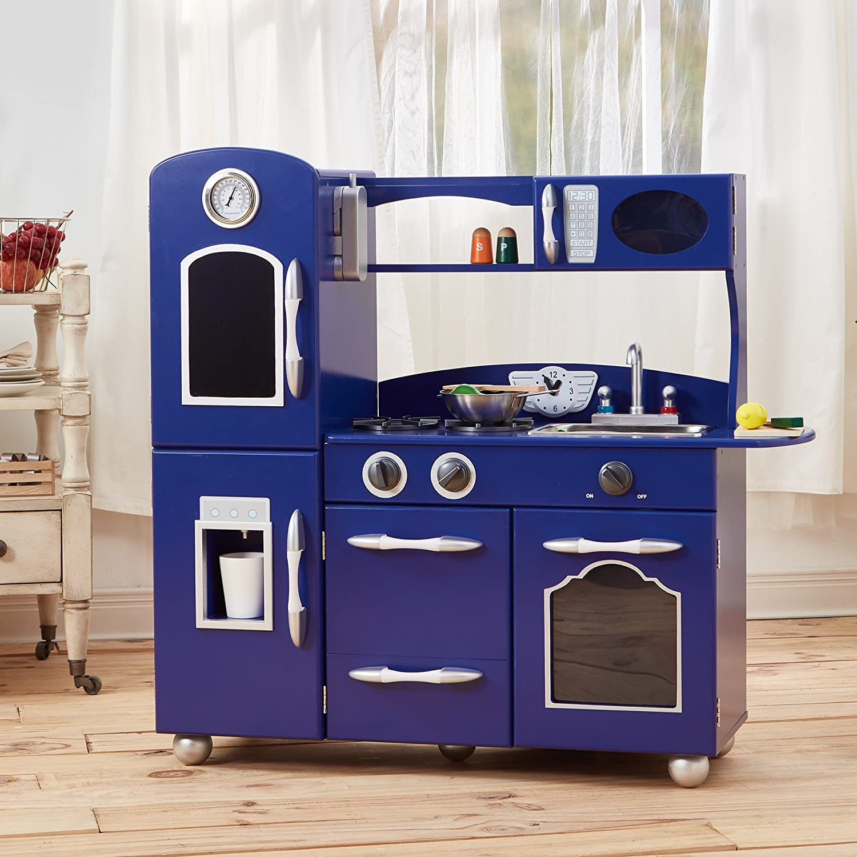 Teamson jeu de cuisine enfant en bois bleu dinette fille garçon TD-11414B Teamson Kids