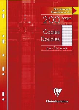 Hojas perforadas (A4, a rayas, 100 hojas con copia): Amazon ...