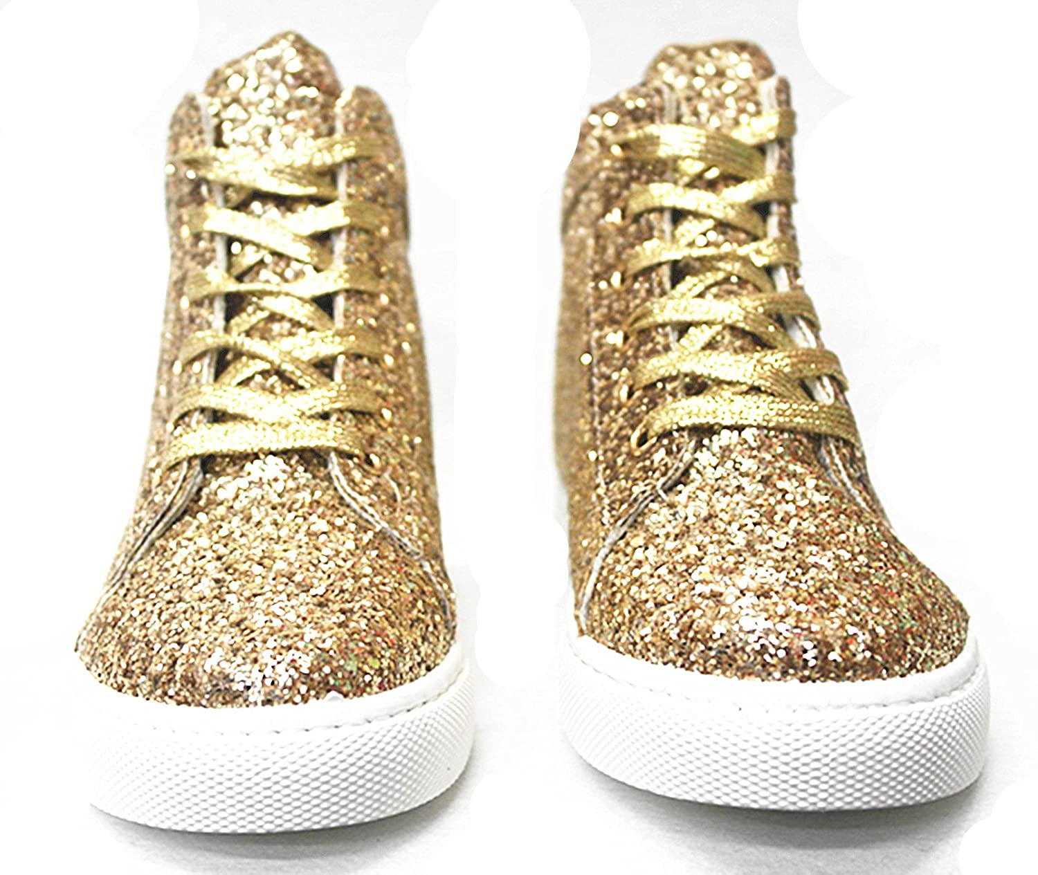 SF Forever Link Remy-18 Women's Jogger Sneaker-Lightweight Glitter Quilted Lace up Shoes New B07BJCGMGR 6 B(M) US|Gold-27