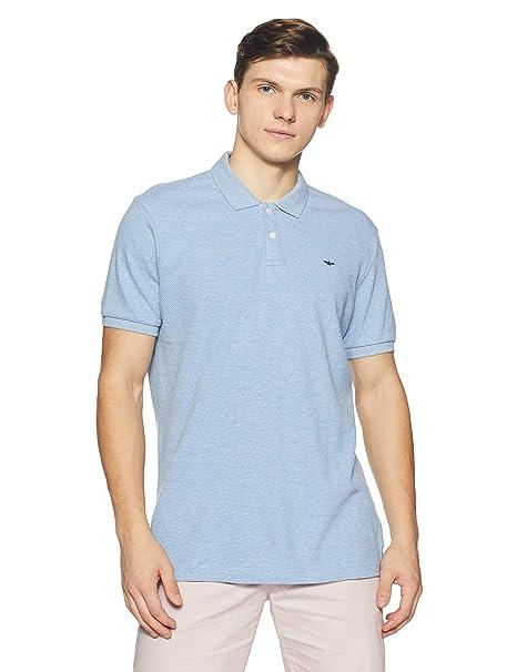 0bc03b37 Park Avenue Men's Plain Regular Fit T-Shirt (PCKA00685-B239_Light Blue)