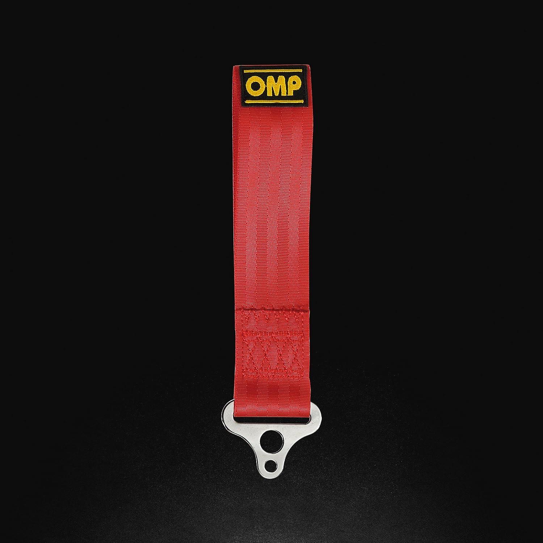 OMP ompeb/578/R - Gancio di traino in acciaio INOX diametro interno 100mm, rosso