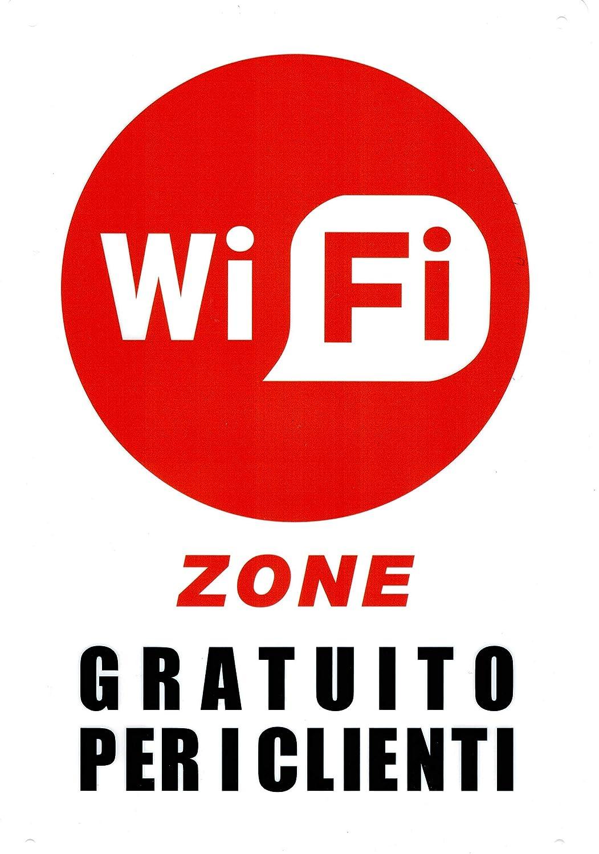 takestop® Juego de 2 Piezas Carteles Cartel Adhesivo WiFi ...