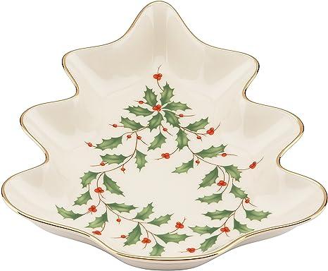 Amazon Com Lenox Holiday Tree Candy Dish Candy Dishes