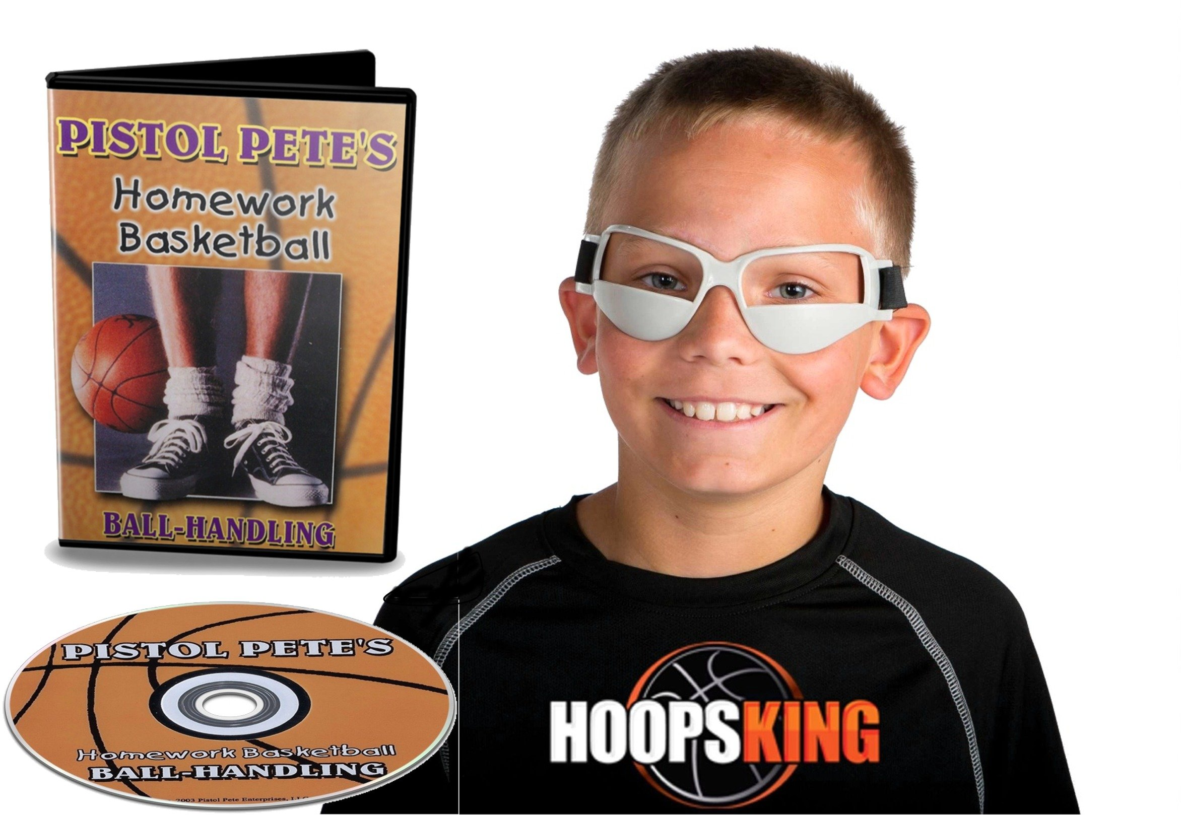 Pistol Pete Maravich Ball Handling DVD & Dribble Goggles - DVD & Training Aid - You'll Have All The Drills You Need To Become A Great Ball Handler Like Pete Maravich - Learn Fun And Cool Tricks That W