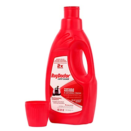 Amazon.com: Rug Doctor 041207 Upholstery Cleaning Solution Portable Machine & Upholstery Cleaner, Red, Medium, 32 oz.: Home & Kitchen