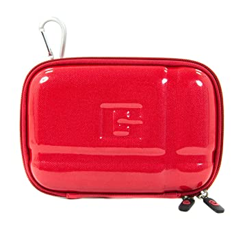 huge selection of 4349f d3bb2 NuVur Red Ablaze Heavy Duty Hard Cover Carry Case for External ...