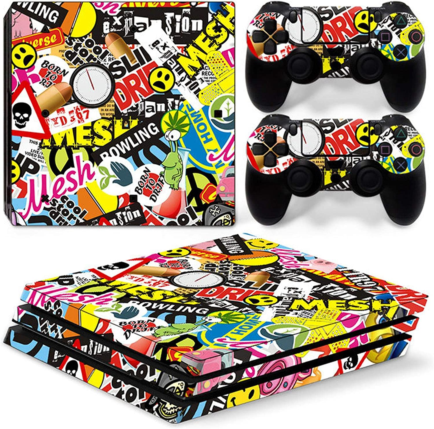 Zoomhitskins Ps4 Pro Skins 2 Controller And 1 Console Vinyl Stickers Durable Bubble Free Goo Free Made In Canada Amazon Ca Electronics
