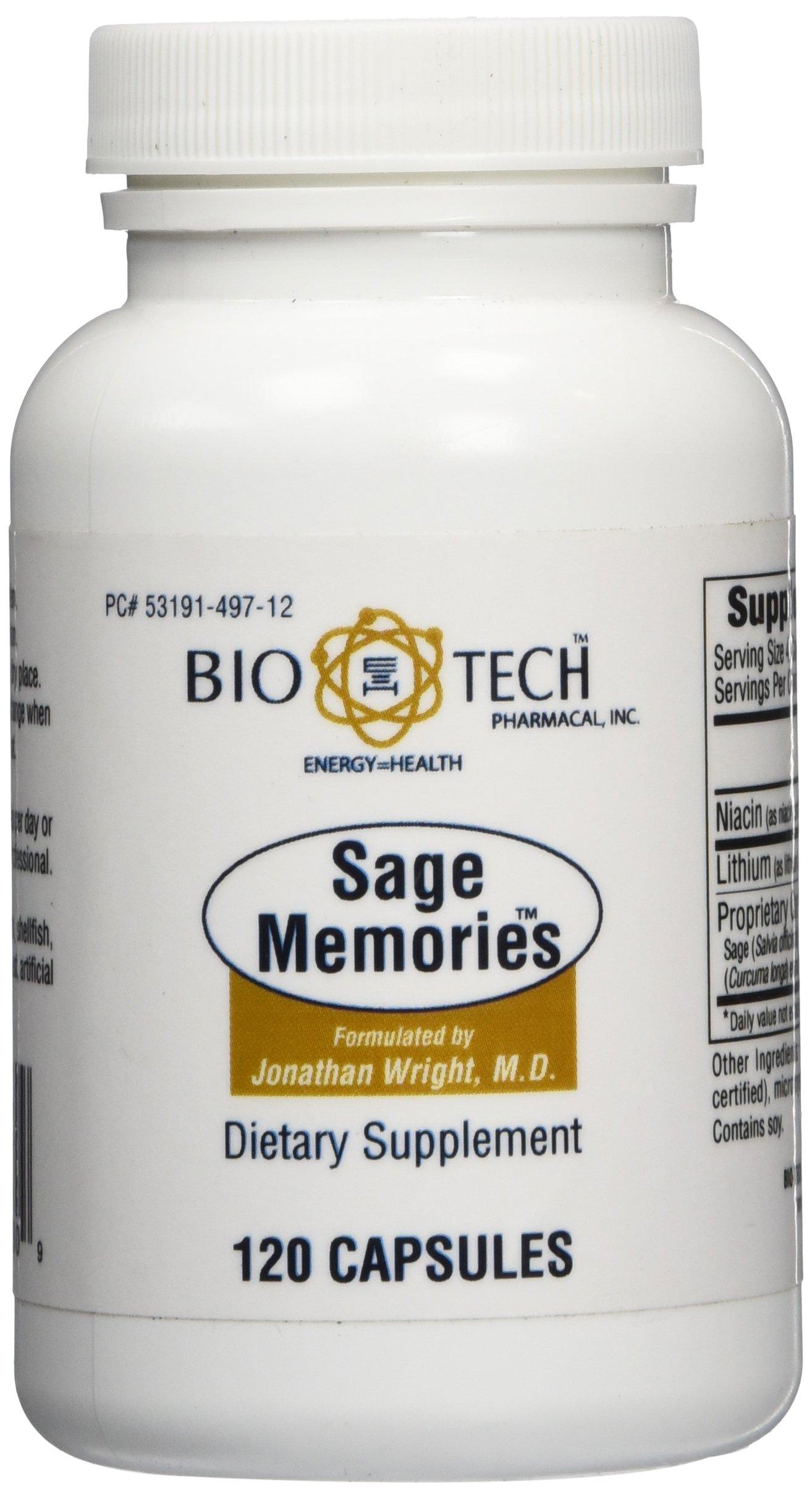 BioTech Pharmacal - Sage Memories - 120 Count