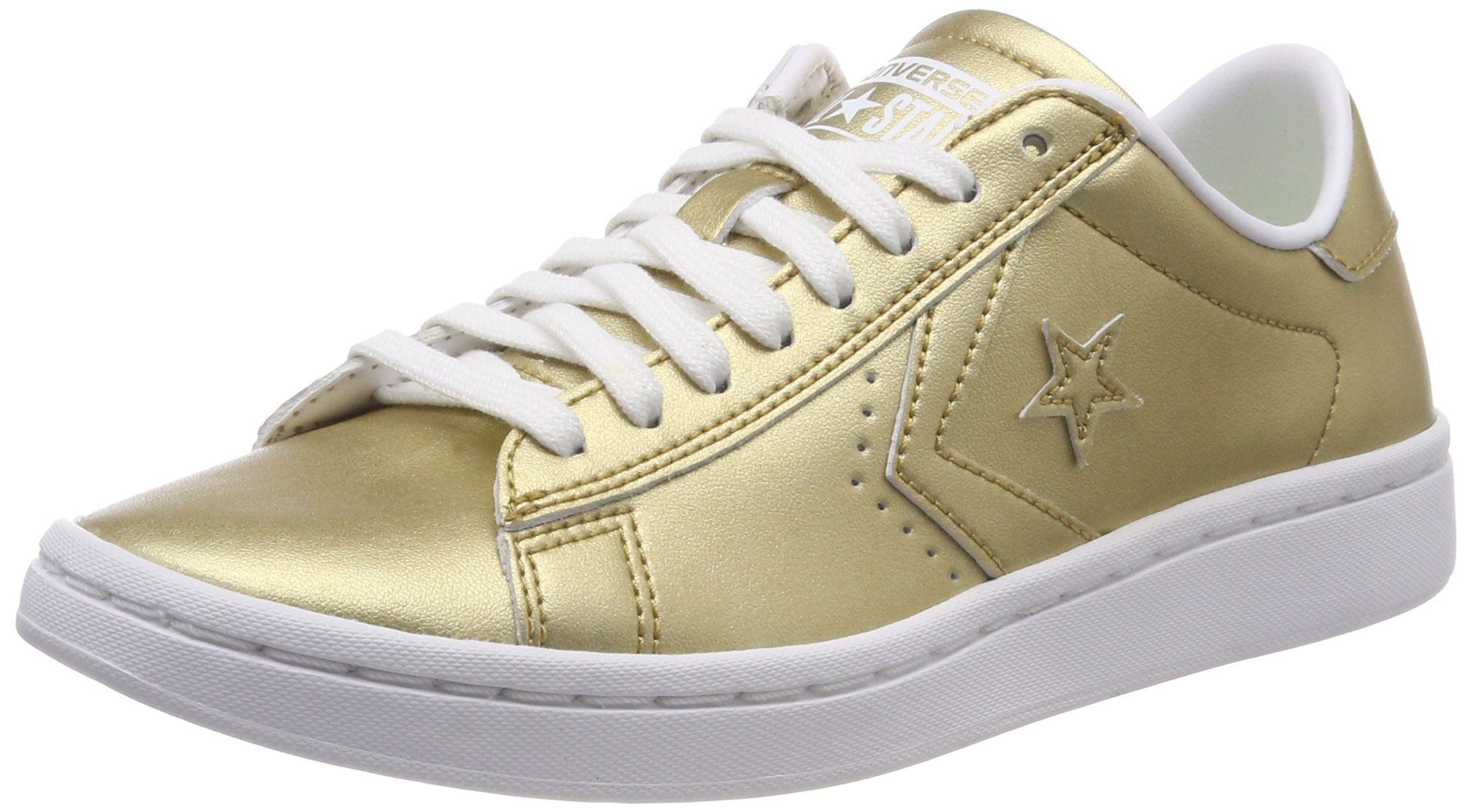 Converse PRO LEATHER LP LEATHER LOW TOP womens fashion-sneakers 555946C_7 - Light Gold/White/White