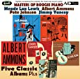 Masters Of Boogie Piano - Five Classic Albums Plus (Yancey's Last Ride / Cat House Piano / Boogie Woogie Piano / 8 To The Bar / A Lost Recording Date)