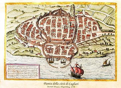 Cartina Geografica Di Cagliari.Florenceprints Stampa D Arte Mappa Di Cagliari 1550 42x30 Su Carta Antica Stampata E Dipinta A Mano Amazon It Casa E Cucina