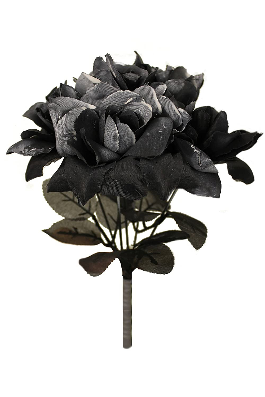 BLACK ROSE BOUQUET FANCY DRESS ACCESSORY