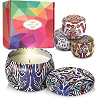 DIY OrganicZ Scented Candle Gift Set for Mothers, Women, Birthday Gift, Spa and Yoga– 4.4 Oz | 4 Pure Fragrances | Pure…
