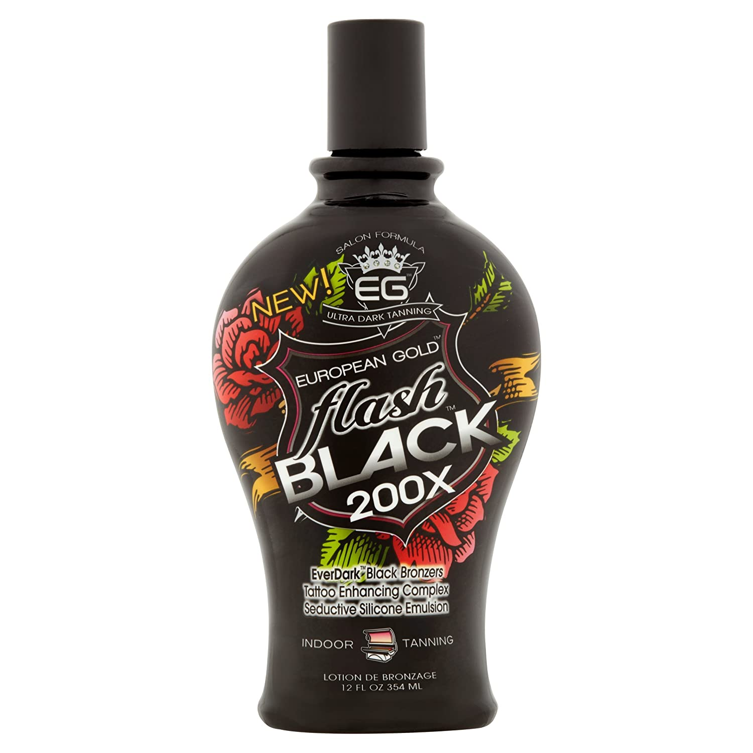European Gold Flash Black 200x Ever Indoor Tanning Lotion