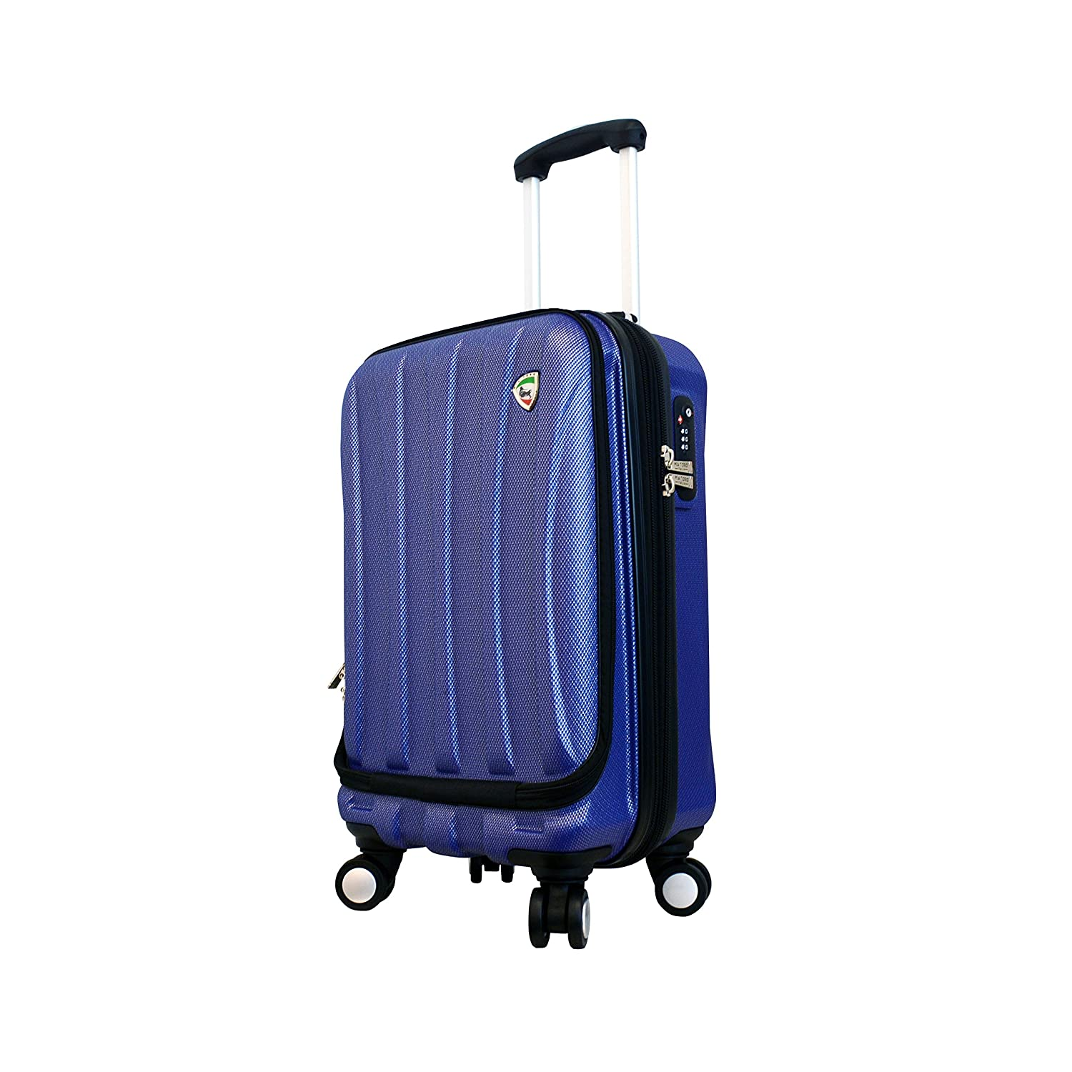 Image of 20' Mia Toro Luggage Tasca Fusion Armor-Flex Hardside Composite Expandable Scratch-Resistant Spinner Luggage with Compression Straps