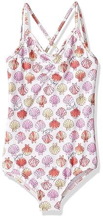 4518f68952ce4 Billabong Little Girls' Seeing Shells One Piece Swimsuit, Seashell, ...