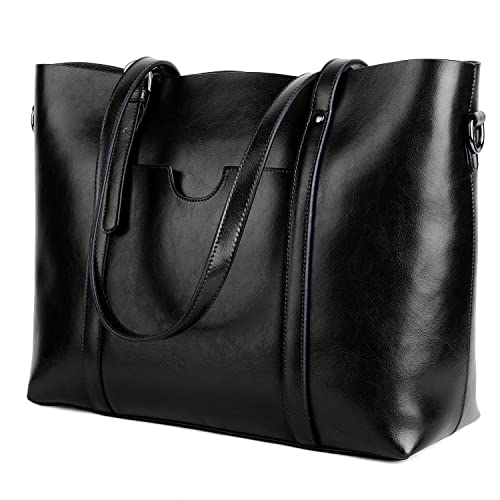 d78048b7c00e Yaluxe Women's Vintage Style Soft Leather Work Tote Large Shoulder Bag  Purse for Women