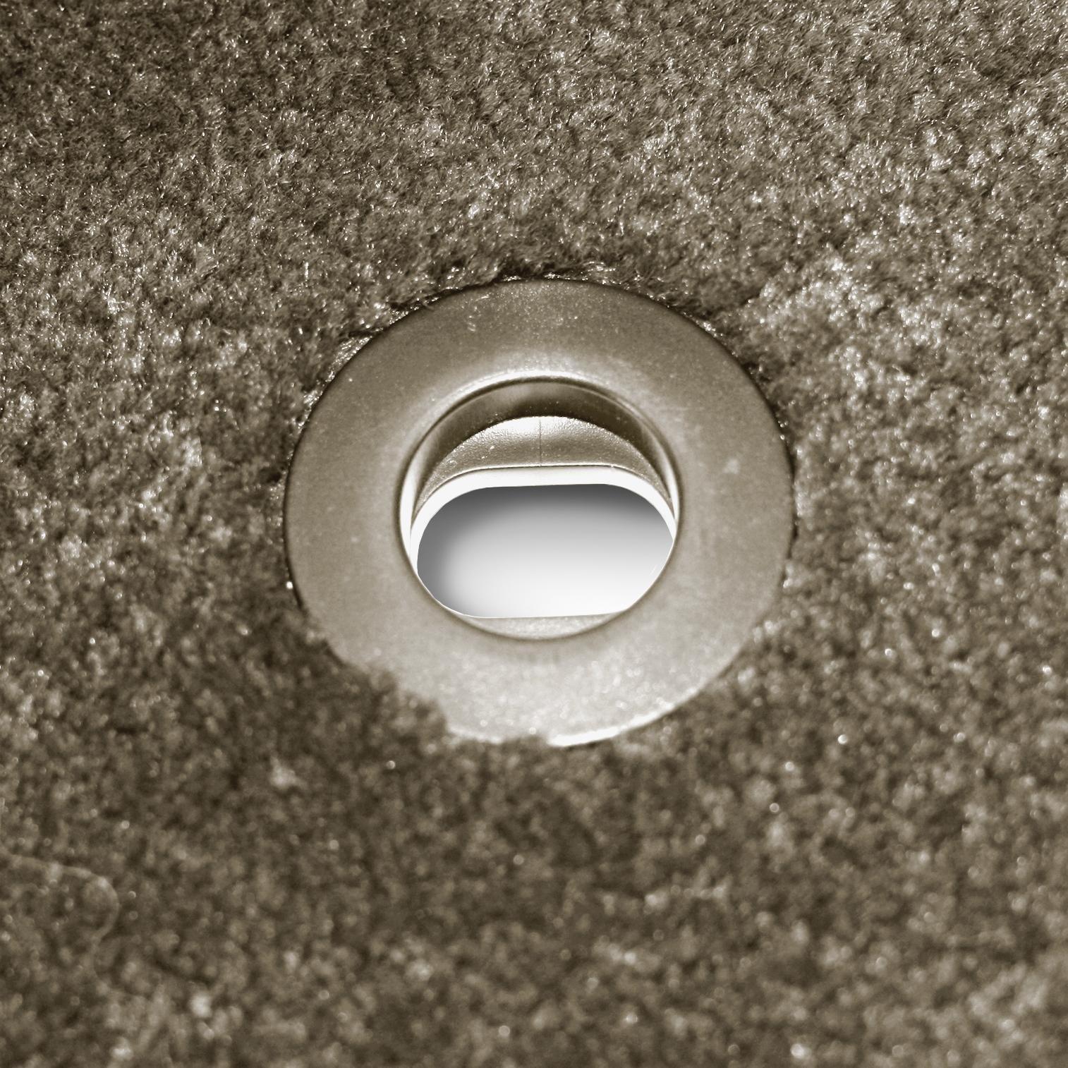 Nylon Carpet Black Coverking Custom Fit Front Floor Mats for Select Mitsubishi Montero Models