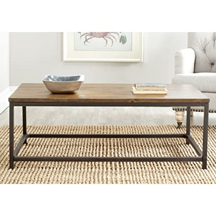 Safavieh American Homes Collection Alec Brown Pine Coffee Table