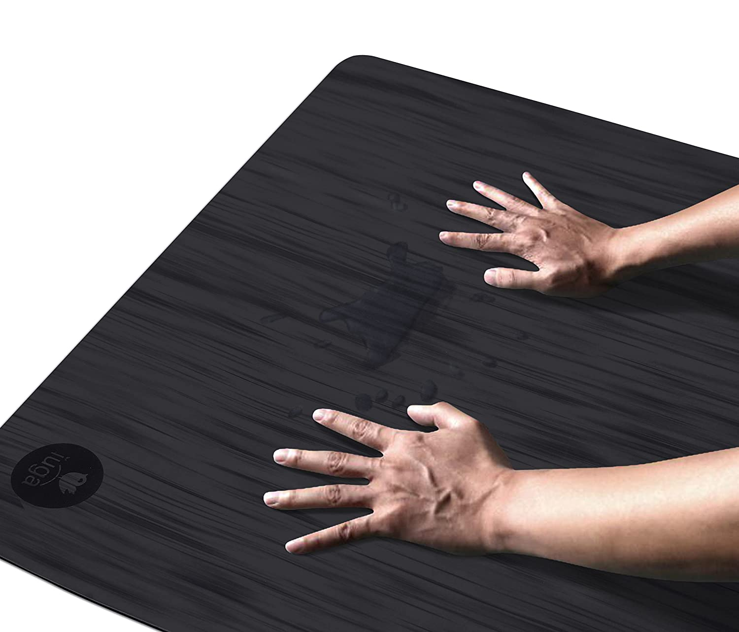 Eco Friendly and SGS Certified Material for Hot Yoga Odorless Lightweight and Extra Large Size IUGA Pro Non Slip Yoga mat Unbeatable Non Slip Performance Free Carry Strap