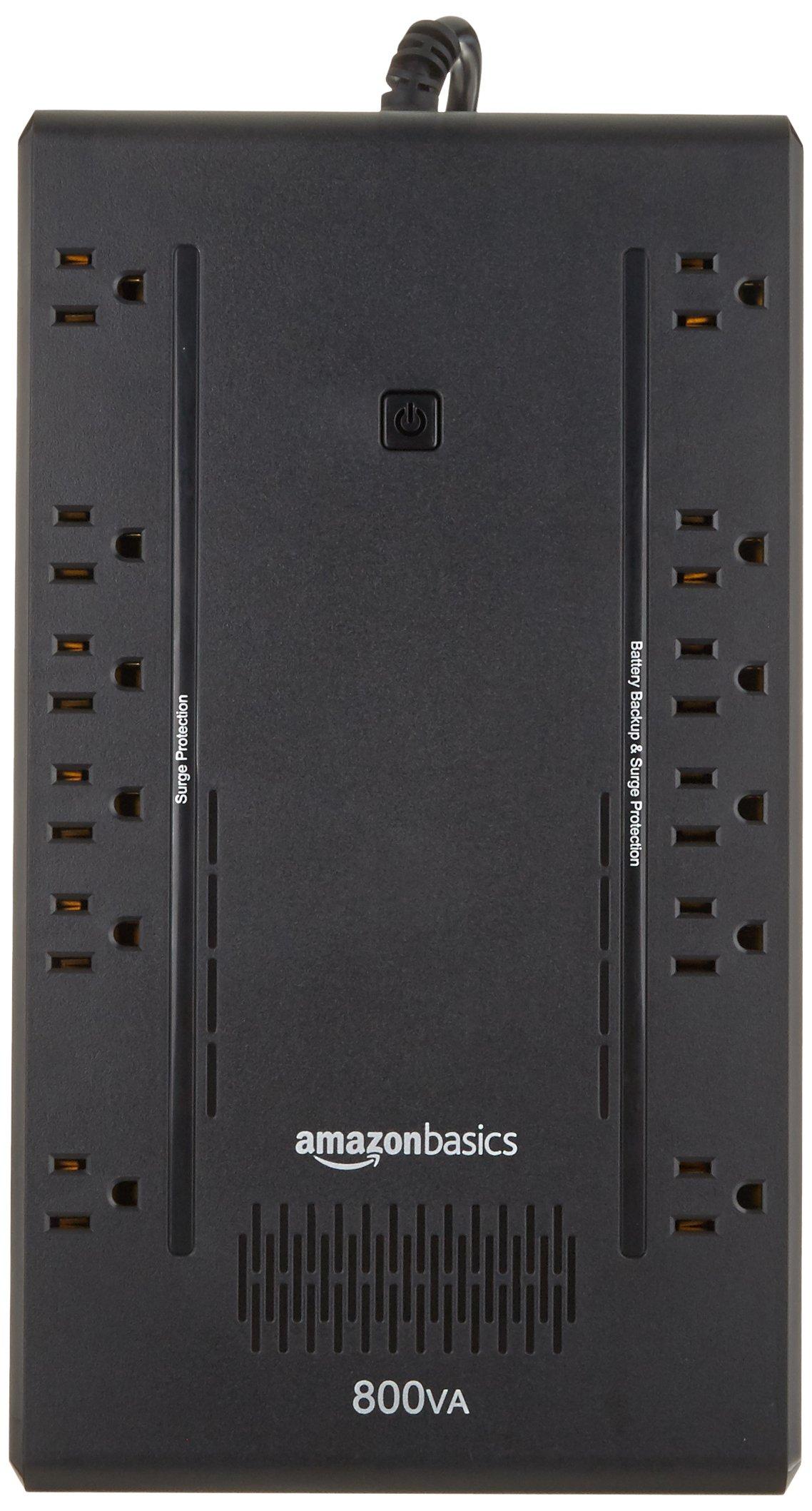 AmazonBasics Standby UPS 800VA 450W, 12 Outlets by AmazonBasics (Image #2)