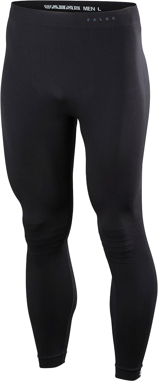 M FALKE Men Warm Long Tights Black 3000 Sports Performance Fabric 1 Piece Black