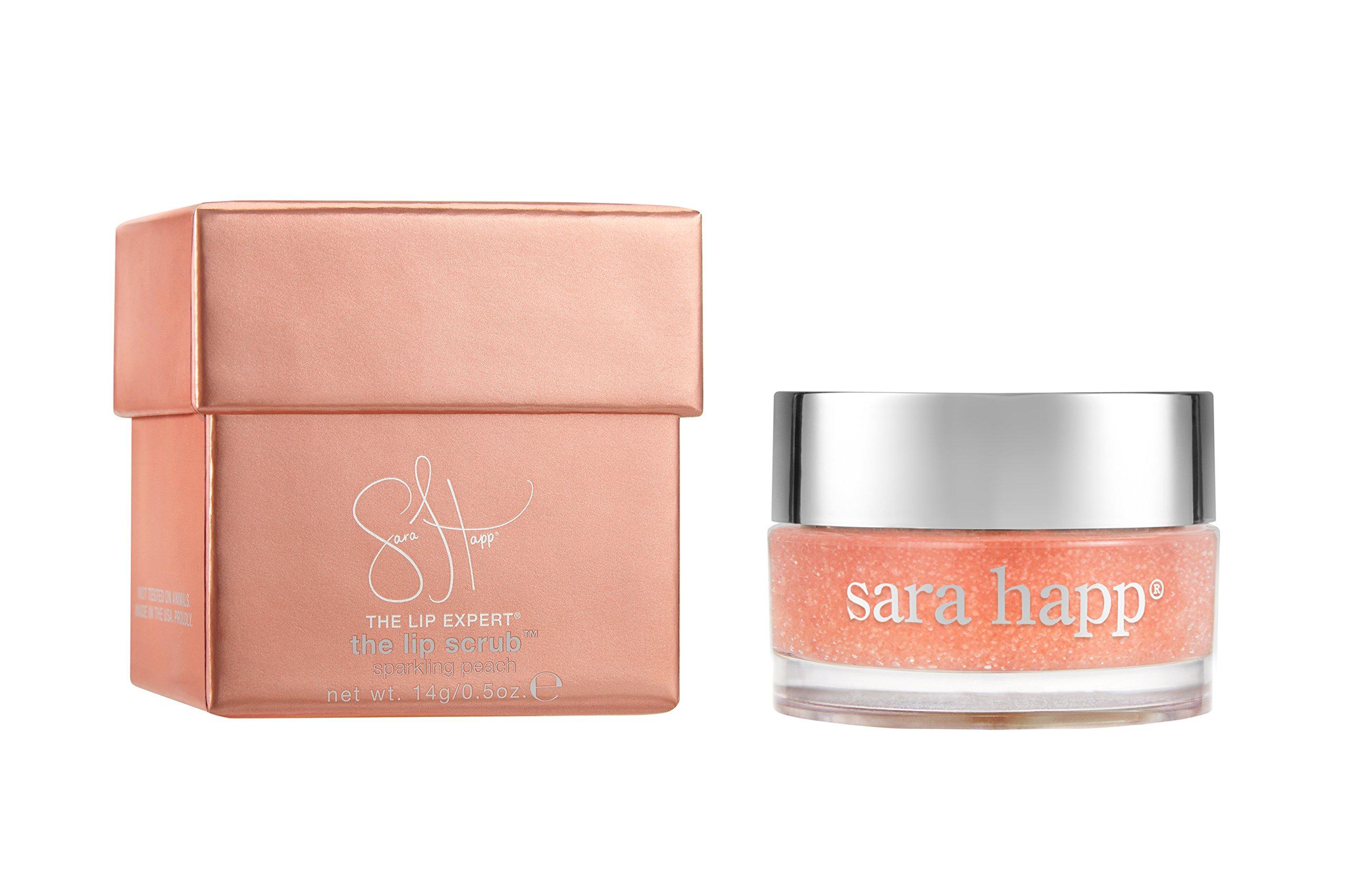 sara happ The Lip Scrub, Peach, 0.5 oz.