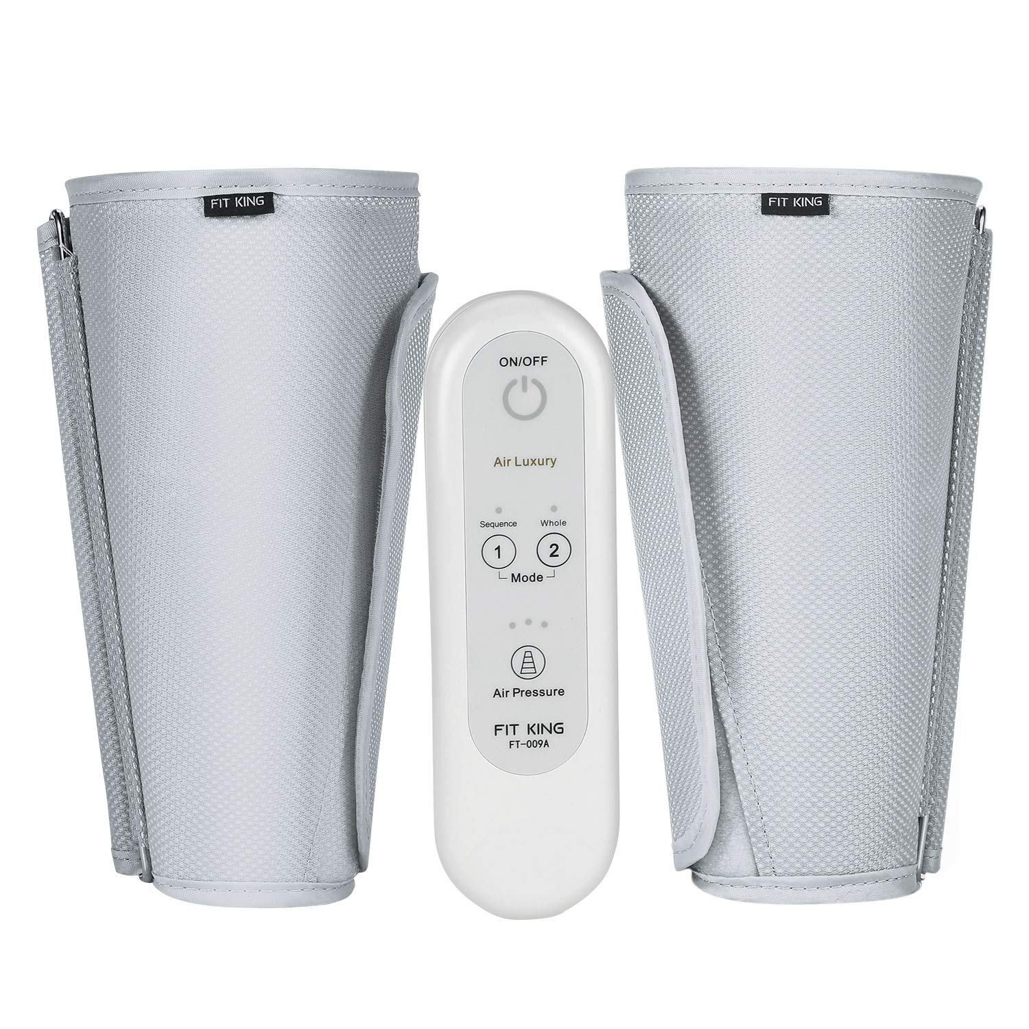 FIT KING Leg Air Massager for Circulation Sequential Compression Wraps Massager with Handheld Controller 2 Modes 3 Intensities