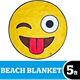 BigMouth Inc Giant Beach Blanket, Oversized Beach Towel, Ulta-Soft Microfiber Towel, Washing Machine Friendly