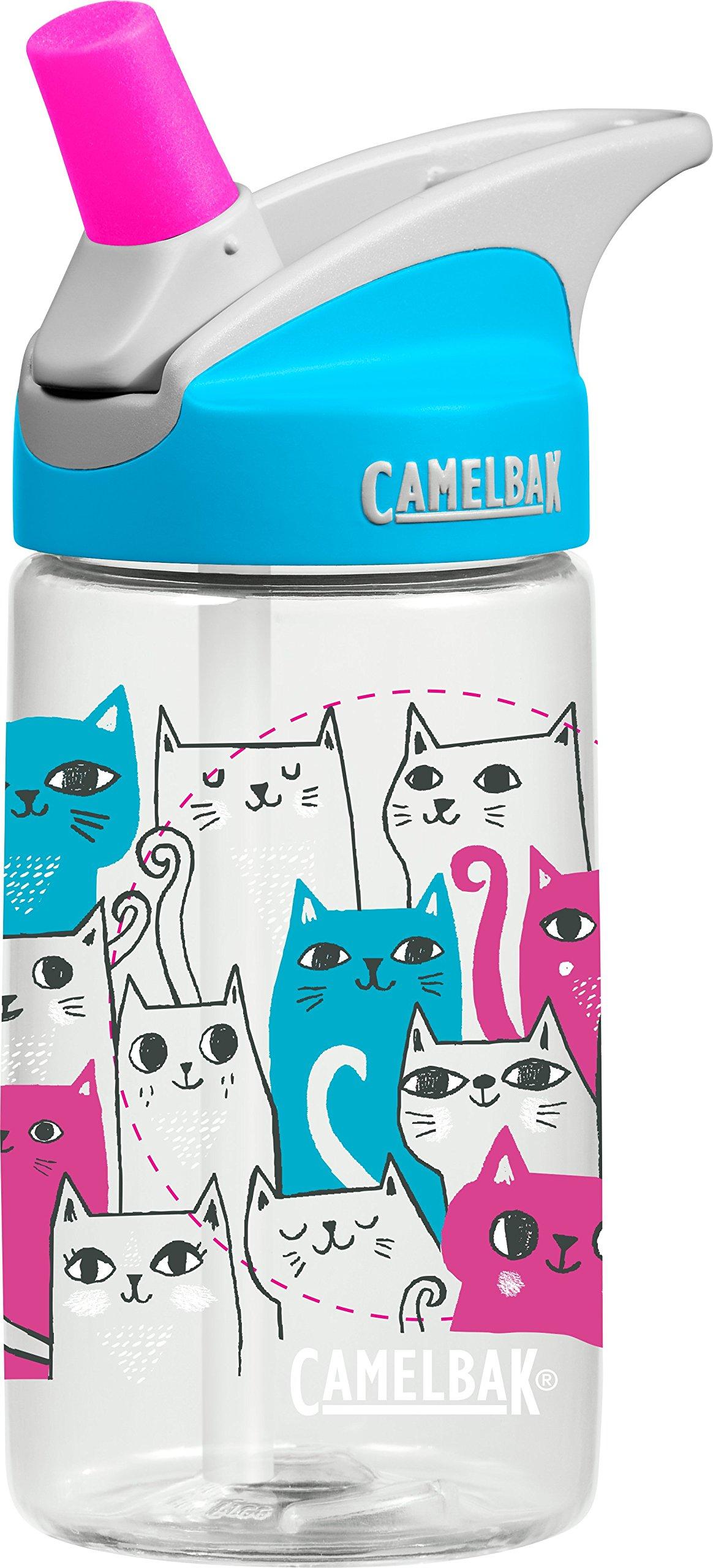 CamelBak Kids Eddy Water Bottle, Cats, 0.4 L