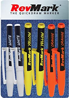 product image for RevMark Bright Series Industrial Marker - 6 Pack - Made in USA - Replaces paint marker for metal, pipe, pvc - ASSORTED