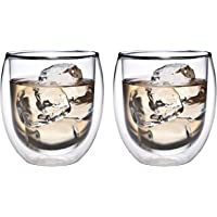 Feelino 320ml Jumbo - Thermogläser mit Schwebe-Effekt, Teeglas/Kaffeeglas für Cappuchino, Latte Macchiato, Cocktails, Tee, Eistee, Schorle, Desserts oder als Eisbecher geeignet