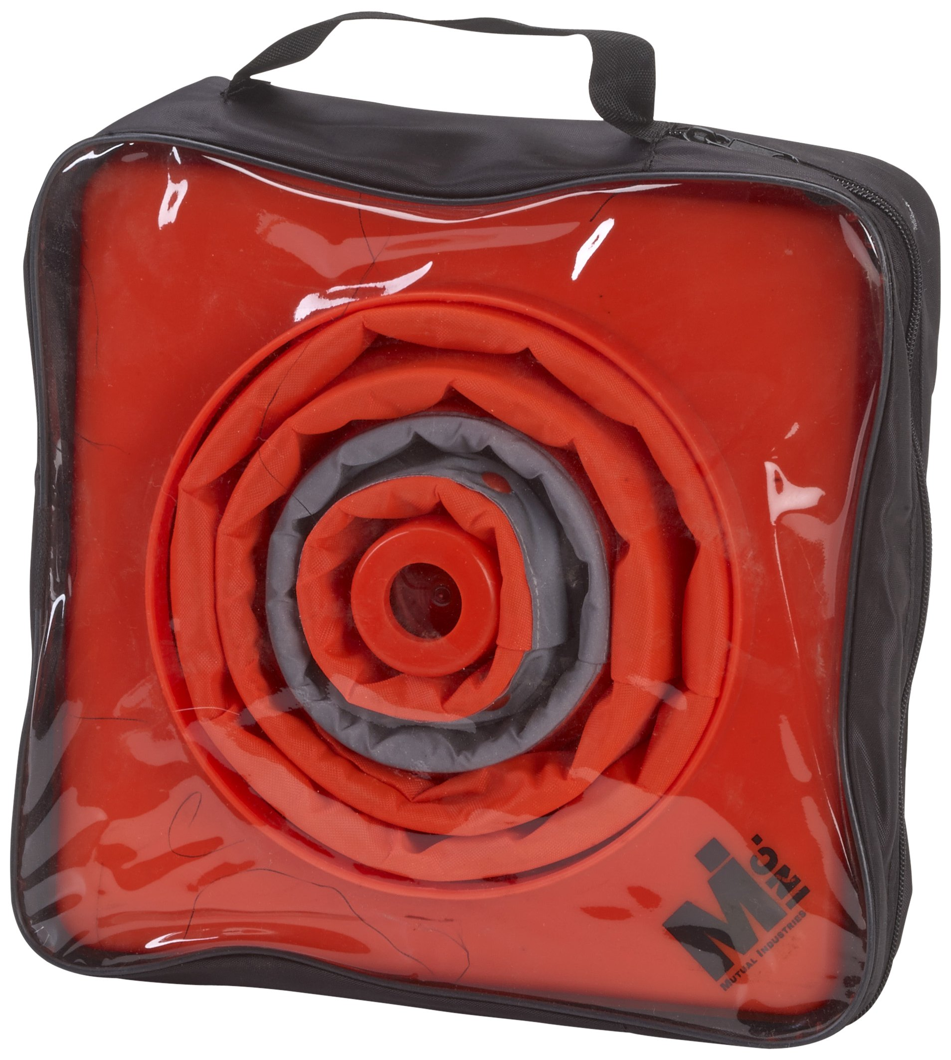 Mutual 17714 Nylon Collapsible Traffic Cone, 18'' Height, Orange (Pack of 4)