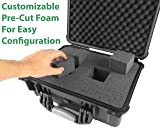 CASEMATIX Waterproof Projector Travel Case for