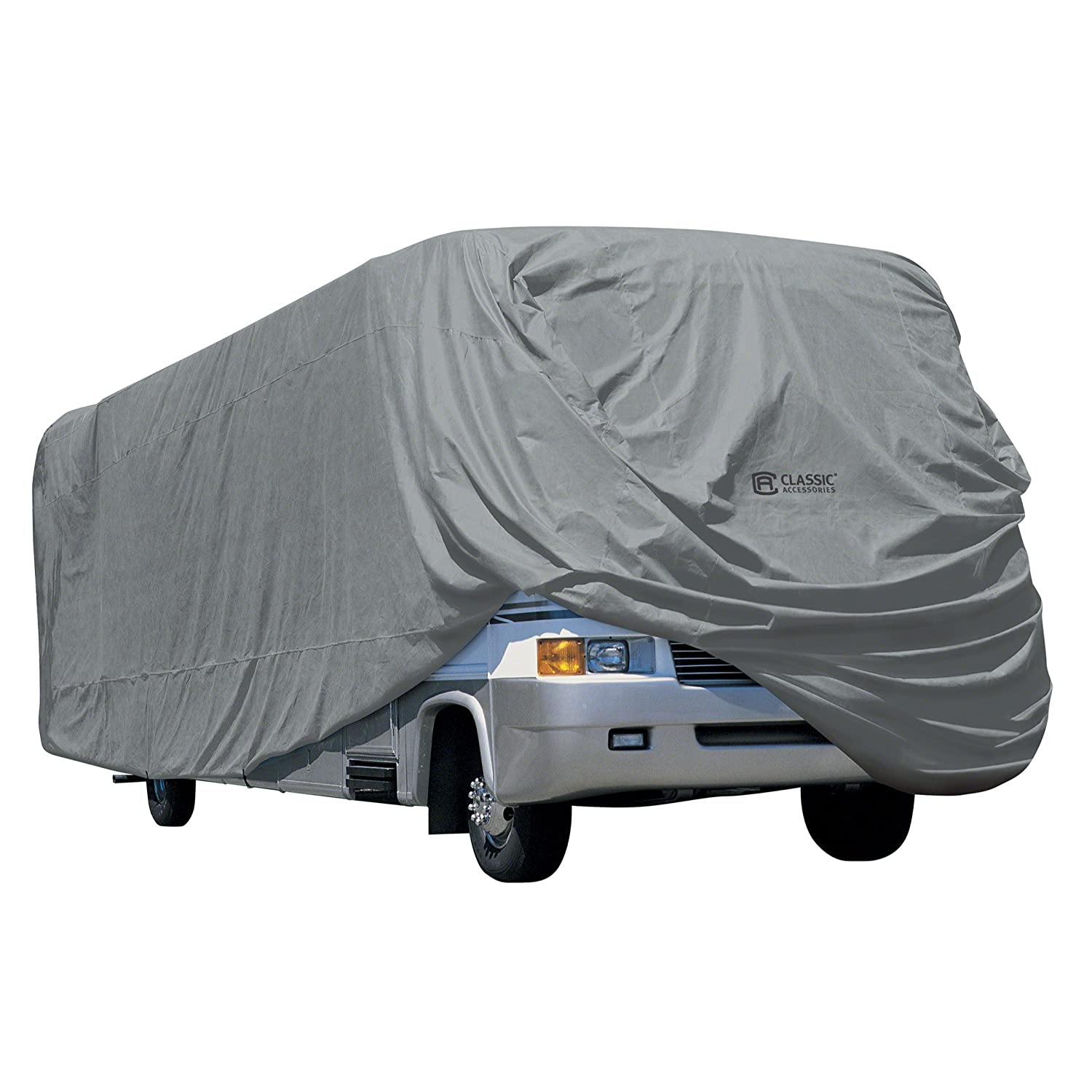 Classic Accessories OverDrive PolyPRO 1 Class A RV Cover, Fits 30' - 33' RVs - Breathable and Water Repellant RV Cover (80-163-181001-00) Fits 30' - 33' RVs - Breathable and Water Repellant RV Cover (80-163-181001-00)