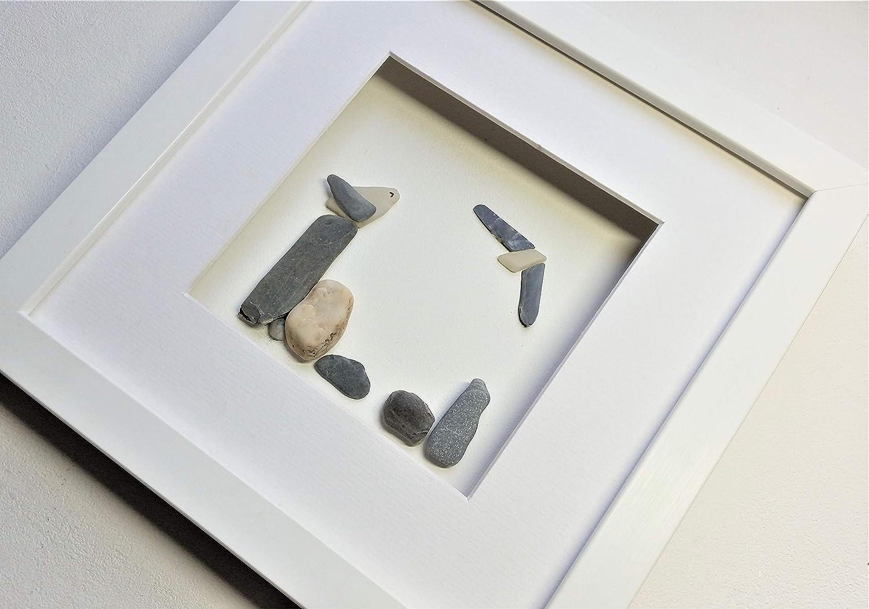Sea Glass Sea Gulls on Stone Posts