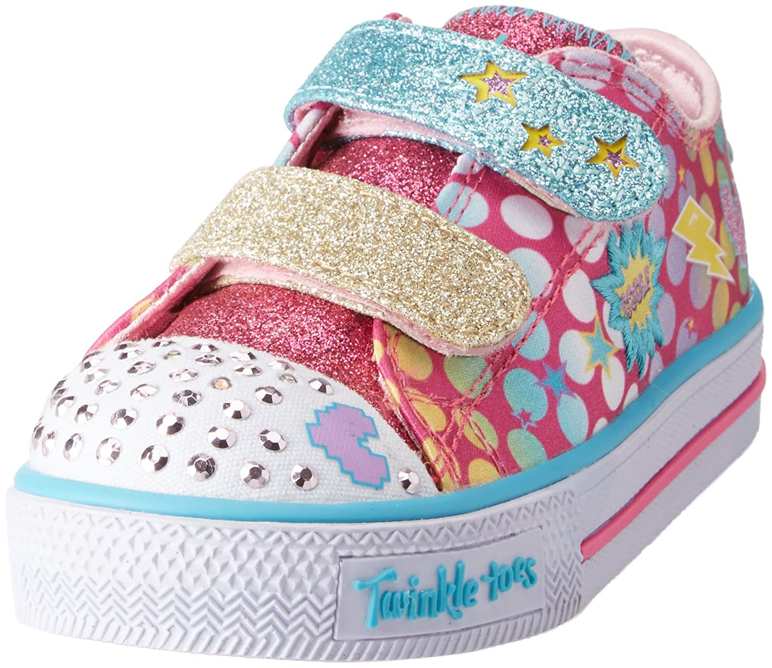Skechers Shuffles-Poppin Posse, Baskets bébé Fille