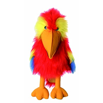 The Puppet Company Large Birds Scarlet Macaw Hand Puppet: Toys & Games