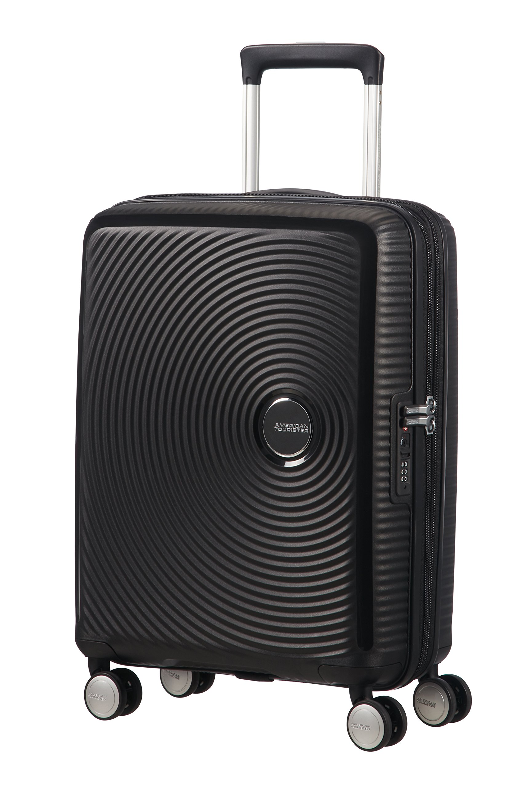 ab8b1e636 American Tourister - Soundbox Spinner Expandible, 55cm, 35,5/41 L - 2,6 KG,  Negro (Bass Black)