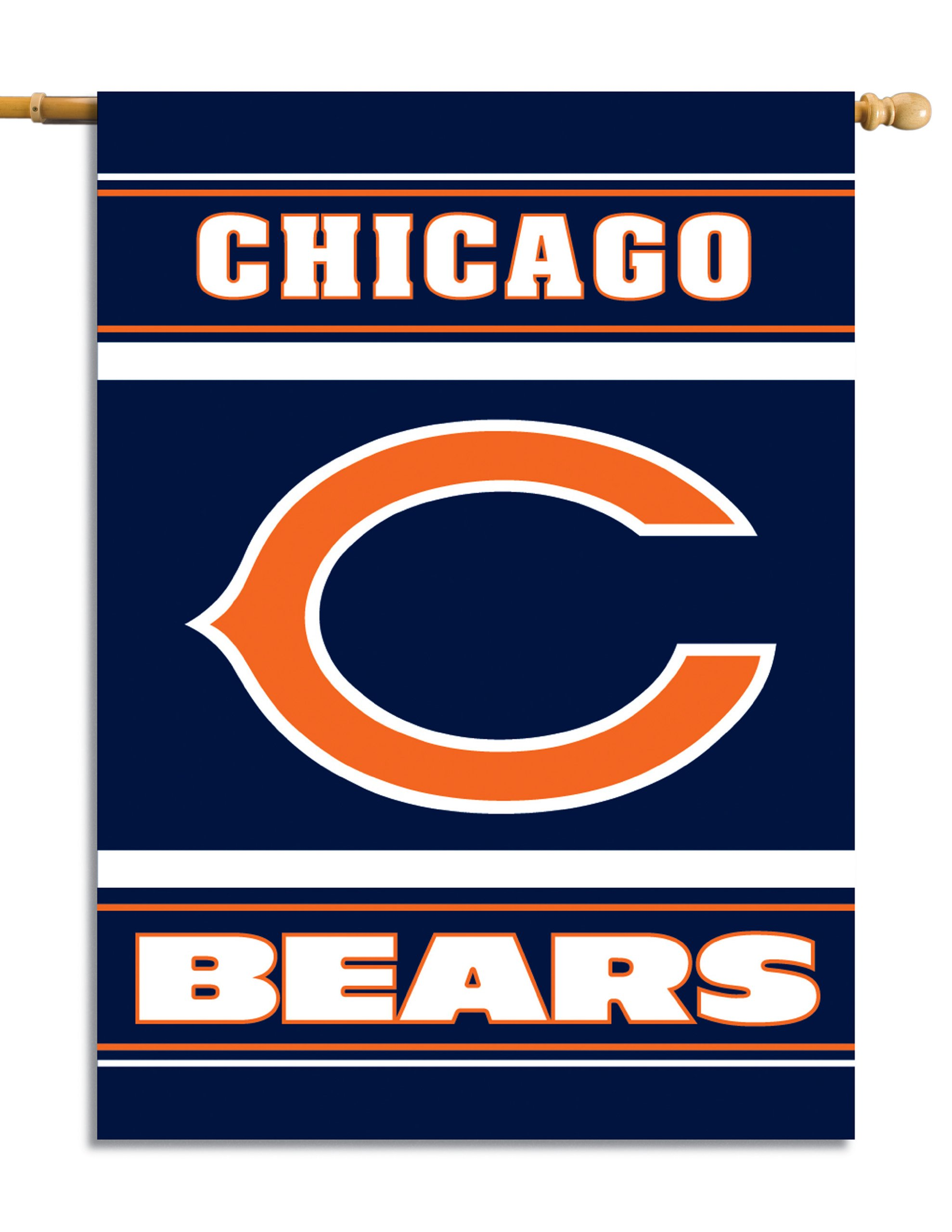 Fremont Die NFL Chicago Bears 2-Sided 28-by-40-Inch House Banner