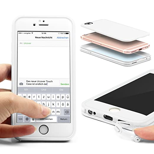 9 opinioni per URCOVER Custodia Full Body Apple iPhone 6 / 6s   Touch Cover Integrale Fronte