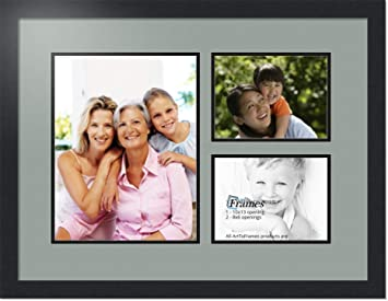 Amazoncom Arttoframes Collage Photo Frame Double Mat With 1 10x13