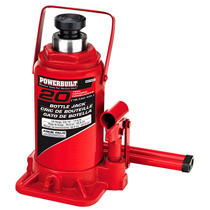 Powerbuilt 647503 Heavy Duty 20-Ton Bottle Jack