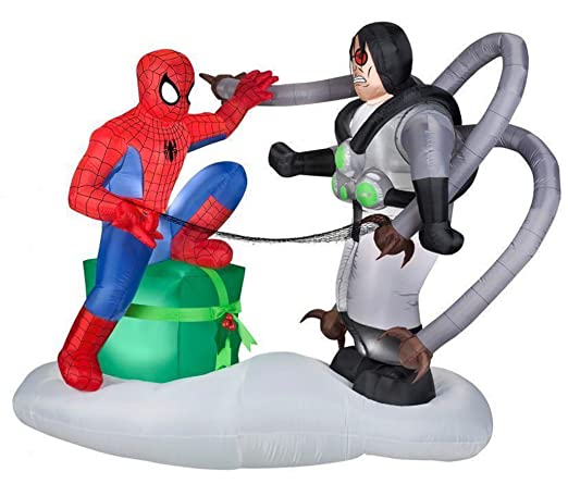 CHRISTMAS INFLATABLES At The Neighborhood Corner Store Spider-Man ...