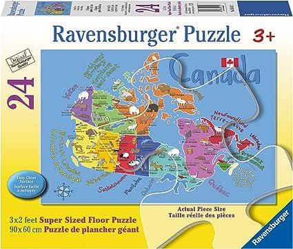 Ravensburger Canada Map Puzzle Amazon.com: Ravensburger Canada Map Floor Puzzle (24 Piece): Toys